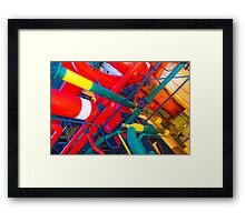 metal veins inside human body. electricity museum Framed Print