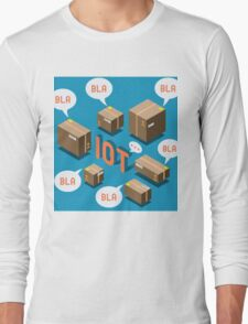 Isometric Internet of Things Concept Long Sleeve T-Shirt