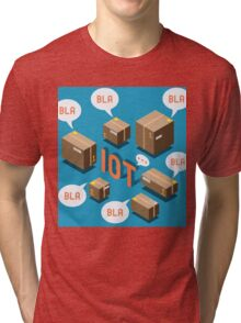 Isometric Internet of Things Concept Tri-blend T-Shirt