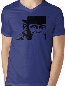 Lancelot Link Chimp Face Mens V-Neck T-Shirt