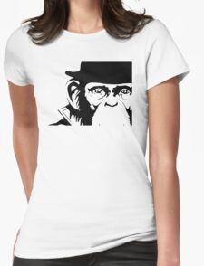 Lancelot Link Chimp Face Womens Fitted T-Shirt