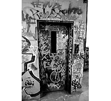Old elevator door Photographic Print