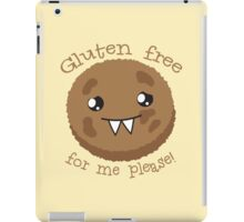 Gluten free for me please with cute kawai cookie monster iPad Case/Skin