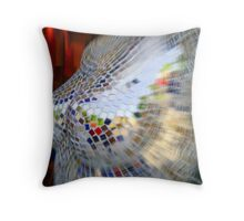 Many images of a lady Throw Pillow