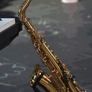Sax in the mall by retepk