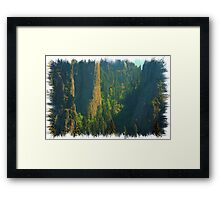 Magestic Rock Formations Framed Print