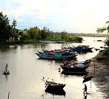 The Fisherman's Estuary - Hoi An, Vietnam. by Tiffany Lenoir