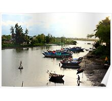 The Fisherman's Estuary - Hoi An, Vietnam. Poster