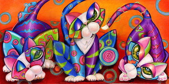 Party Animals Kitty Style by Alma Lee