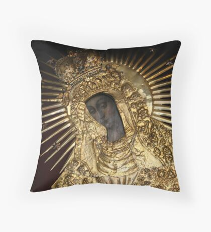 Black Madonna Vilnius Lithuania Throw Pillow