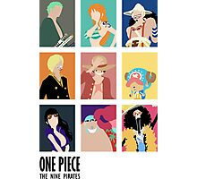 Onepice strawhat 9 crew Photographic Print