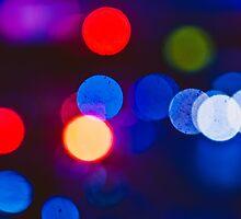 Blue midnight Bokeh circles by Anna Alferova