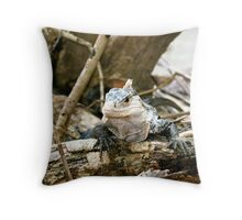 Manuel Antonio Iguana Throw Pillow