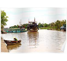 The Town River - Hoi An, Vietnam. Poster