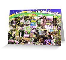 Tamborine Mountain  Springtime in collage Greeting Card