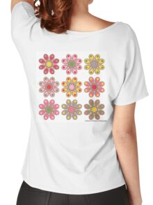 Window Box Foot Flowers Women's Relaxed Fit T-Shirt