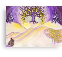 Gaia Sleeps Canvas Print
