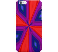 Red, Purple and Gold Quadrant iPhone Case/Skin