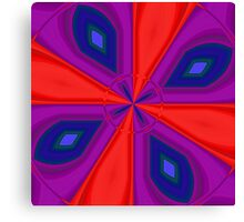 Red, Purple and Gold Quadrant Canvas Print