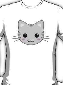 Cute Kawaii Grey Tabby Cat T-Shirt