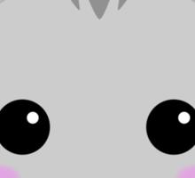 Cute Kawaii Grey Tabby Cat Sticker