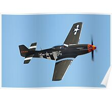 P-51D Flyby Poster