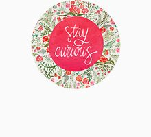 Stay Curious – Pink & Green Unisex T-Shirt
