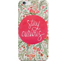 Stay Curious – Pink & Green iPhone Case/Skin