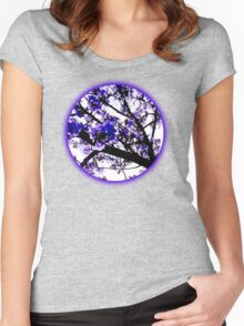 Blue blossoms Women's Fitted Scoop T-Shirt