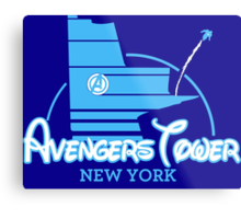 Avengers Tower (or Castle) from Age of Ultron (BLUE) Metal Print