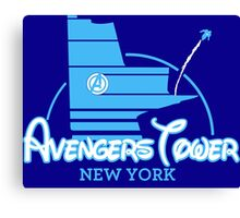 Avengers Tower (or Castle) from Age of Ultron (BLUE) Canvas Print