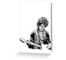 sketch of Hendrix Greeting Card
