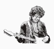 sketch of Hendrix T-Shirt