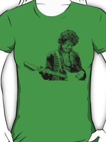 sketch of Hendrix T-Shirt