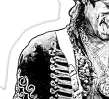 sketch of Hendrix Sticker