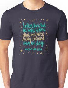 Night Owl on Navy Unisex T-Shirt