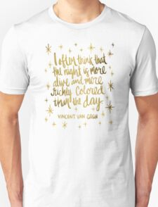 Night Owl – Gold T-Shirt