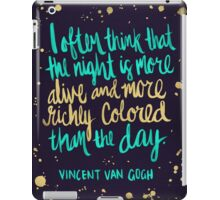 Night Owl on Navy iPad Case/Skin
