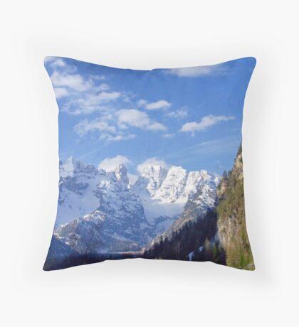 Mountains Majestic (Italian Dolomites) Throw Pillow