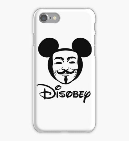 Disobey - Anonymous - Disney - Subversive Symbolism iPhone Case/Skin