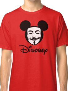 Disobey - Anonymous - Disney - Subversive Symbolism Classic T-Shirt
