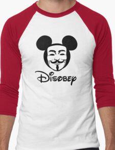 Disobey - Anonymous - Disney - Subversive Symbolism Men's Baseball ¾ T-Shirt