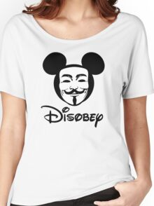 Disobey - Anonymous - Disney - Subversive Symbolism Women's Relaxed Fit T-Shirt