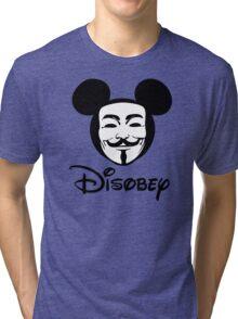 Disobey - Anonymous - Disney - Subversive Symbolism Tri-blend T-Shirt