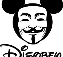 Disobey - Anonymous - Disney - Subversive Symbolism by fearandclothing