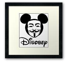 Disobey - Anonymous - Disney - Subversive Symbolism Framed Print
