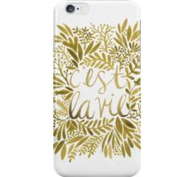 That's Life – Gold iPhone Case/Skin