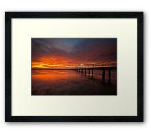 Sunrise at the Rippleside Pier Framed Print