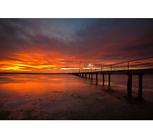 Sunrise at the Rippleside Pier Photographic Print