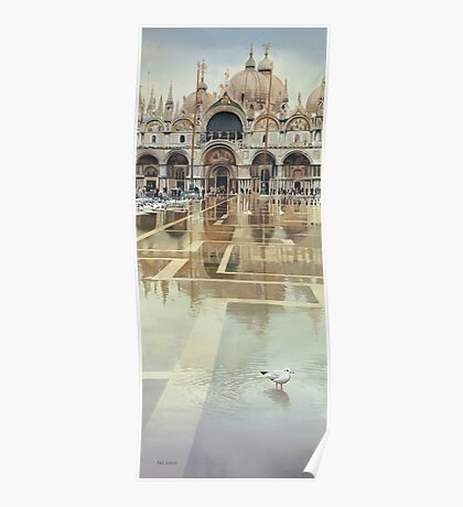 """Floating Palace"" Watercolor Poster"